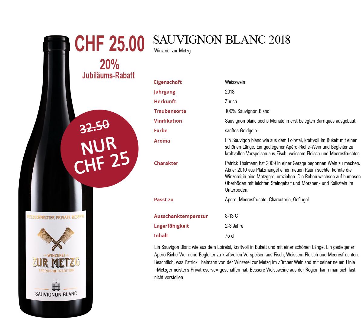 Sauvignon Blanc mit 20% Rabatt